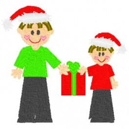 2 Boys with Present