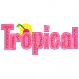 Tropical with Cherry Applique Mega Hoop Design