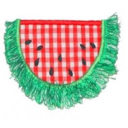 Applique and Fringe Watermelon Half