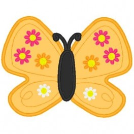 M2M Gymbo Applique Butterfly with Flowers