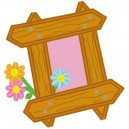 Applique Flower Frame Mega Hoop Design