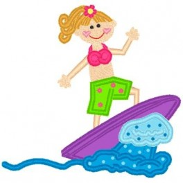 Surf Girl Mega Hoop Design