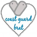 Applique Heart Tag Coast Guard Brat Mega Hoop Design