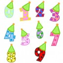 Birthday Hat Numbers