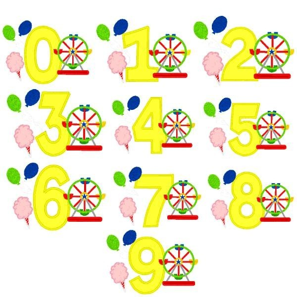 ... Embroidery Designs > Fonts > Specialty Numbers > Carnival Numbers