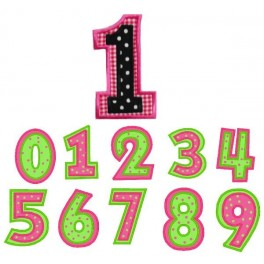 Double Applique Numbers