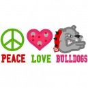 Love Peace Bulldogs