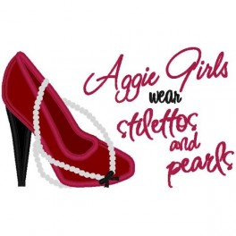 Stilettos and Pearls Aggie