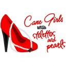 Stilettos and Pearls Cane