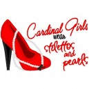 Stilettos and Pearls Cardinal