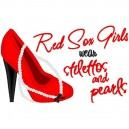 Stilettos and Pearls Red Sox