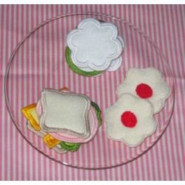 In The Hoop Tea Party Sandwich and Cookies Set