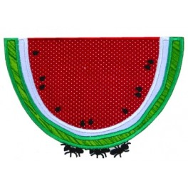 Picnic Ant with Watermelon Mega Hoop Design
