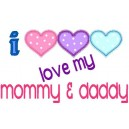 Love Mommy And Daddy Hearts