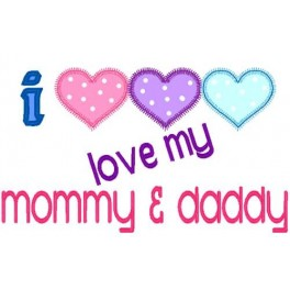 Love Mommy And Daddy Hearts Nobbieneezkids