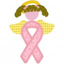 Cancer Angel Applique