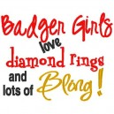 Rings and Bling Badger