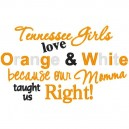 Tennessee Girls Love Orange Mommy