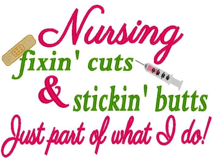Nursing Fixin Cuts Stickin Butts Nobbieneezkids
