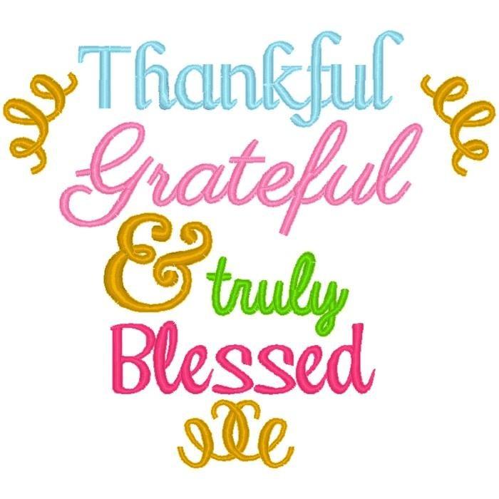 Thankful Grateful Truly Blessed Nobbieneezkids